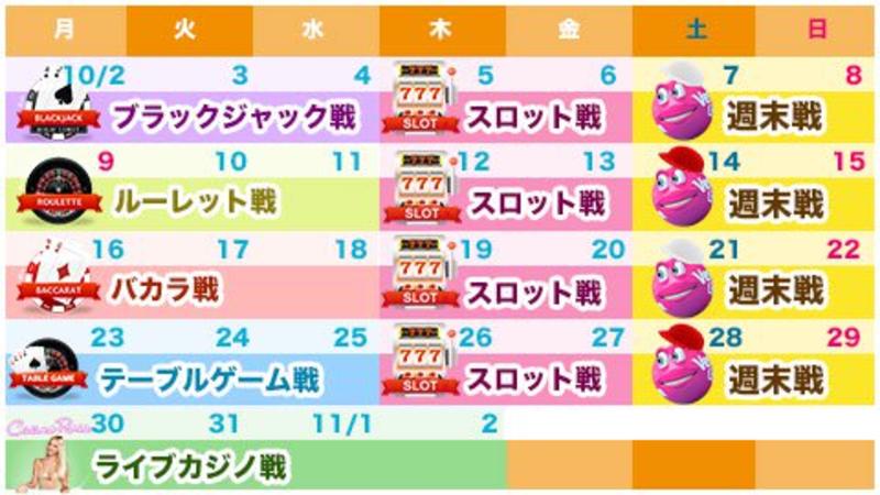 ベラジョン日本限定トーナメント開催