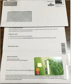 エコカード(ecoCard)が届きました。